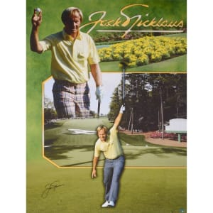 "Jack Nicklaus Fanatics Authentic Autographed 44"" x 33"" 1986 Masters Canvas"