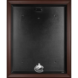 Vancouver Canucks Fanatics Authentic Brown Framed Logo Jersey Display Case