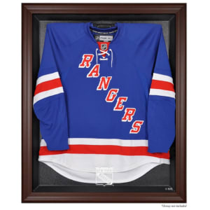 New York Rangers Fanatics Authentic Brown Framed Logo Jersey Display Case