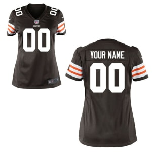 Cleveland Browns Historic Logo Nike Women's Custom Game Jersey - Brown