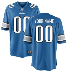 Detroit Lions Nike Youth Custom Game Jersey - Blue