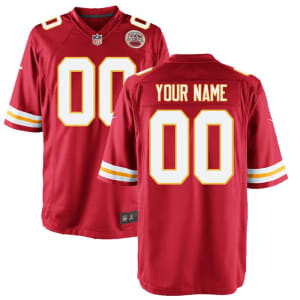 Kansas City Chiefs Nike Youth Custom Game Jersey - Red