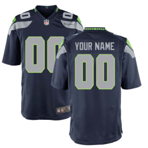 Seattle Seahawks Nike Youth Custom Game Jersey - College Navy