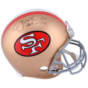 """Joe Montana San Francisco 49ers Fanatics Authentic Autographed Pro-Line Riddell Authentic Helmet with """"HOF 2000"""" Inscription"""