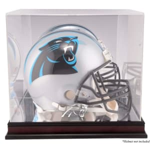 Carolina Panthers Fanatics Authentic Mahogany Helmet Logo Display Case with Mirror Back