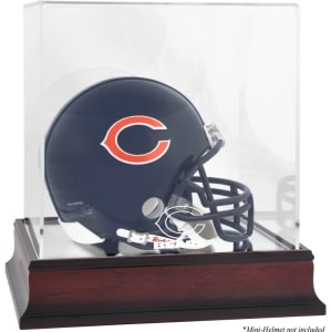 Chicago Bears Fanatics Authentic Mahogany Logo Mini Helmet Display Case