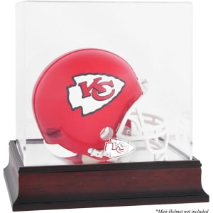 Kansas City Chiefs Fanatics Authentic Mahogany Logo Mini Helmet Display Case