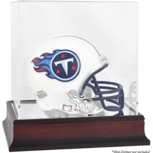 Tennessee Titans Fanatics Authentic Mahogany Logo Mini Helmet Display Case