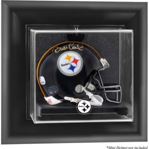 Pittsburgh Steelers Fanatics Authentic Black Framed Wall-Mountable Mini Helmet Logo Display Case