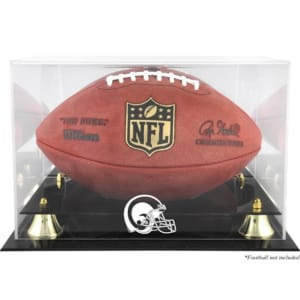Los Angeles Rams Fanatics Authentic Throwback Golden Classic Football Logo Display Case with Mirror Back