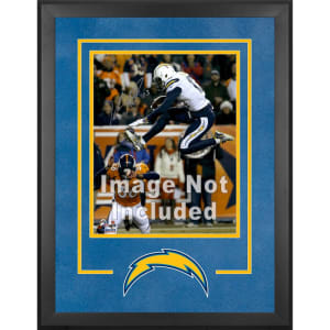 """Los Angeles Chargers Fanatics Authentic 16"""" x 20"""" Deluxe Vertical Photograph Frame with Team Logo"""