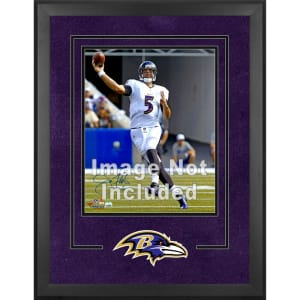"Baltimore Ravens Fanatics Authentic 16"" x 20"" Deluxe Vertical Photograph Frame with Team Logo"