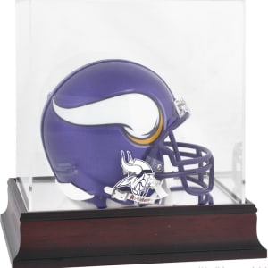 Minnesota Vikings Fanatics Authentic (2013-Present) Mahogany Mini Helmet Display Case