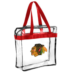 Chicago Blackhawks Clear Messenger Basic Tote Bag