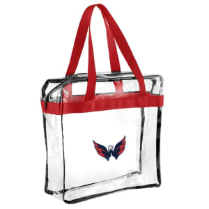 Washington Capitals Clear Messenger Basic Tote Bag