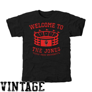 Texas Tech Red Raiders Stadium Tri-Blend T-Shirt - Black