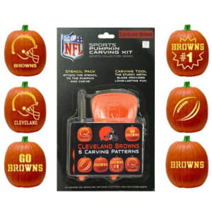 Cleveland Browns Historic Logo Pumpkin Carving Kit