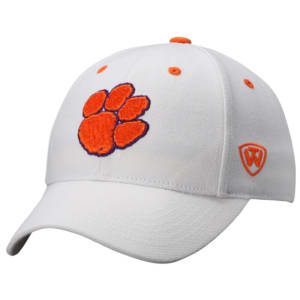 Clemson Tigers Top of the World Dynasty Memory Fit Fitted Hat - White