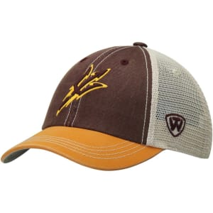 Arizona State Sun Devils Top Of The World Youth Rookie Offroad Trucker Adjustable Hat - Maroon