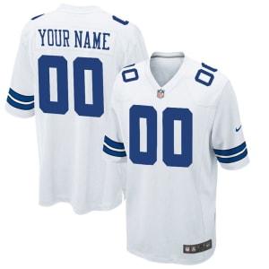 Nike Men's Dallas Cowboys Customized Game White Jersey