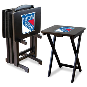 New York Rangers TV Trays with Stand