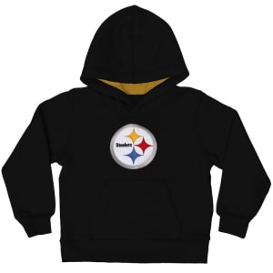 Pittsburgh Steelers Toddler Fan Gear Primary Logo Pullover Hoodie - Black
