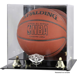 New Orleans Pelicans Fanatics Authentic Golden Classic Logo Basketball Display Case