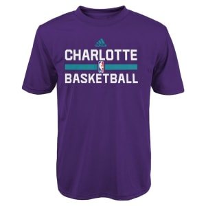 Charlotte Hornets adidas Youth Practice Wear Performance T-Shirt - Purple