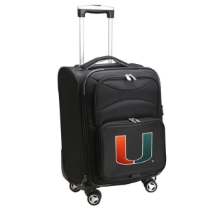 """Miami Hurricanes 21"""" Spinner Carry-On - Black"""