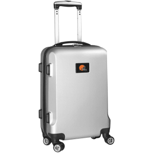 "Cleveland Browns 20"" 8-Wheel Hardcase Spinner Carry-On - Silver"