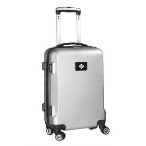 """Toronto Maple Leafs 20"""" 8-Wheel Hardcase Spinner Carry-On - Silver"""