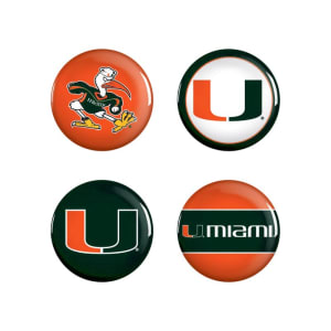 Miami Hurricanes WinCraft 4-Pack Button Set