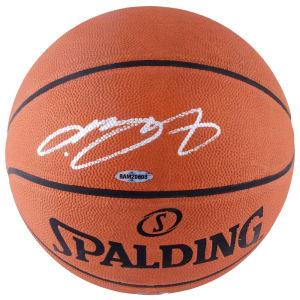 LeBron James Los Angeles Lakers Autographed Official NBA Leather Game Basketball - Upper Deck