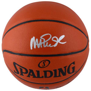 Magic Johnson Los Angeles Lakers Fanatics Authentic Autographed Spalding Indoor/Outdoor Basketball with Silver Ink