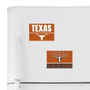 """Texas Longhorns WinCraft 2"""" x 3"""" 2-Pack Magnet Set"""