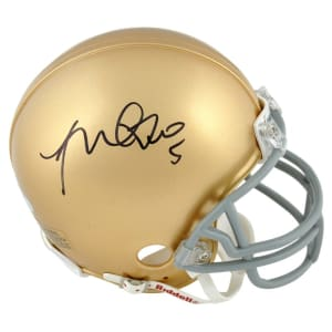 Manti Te'o Notre Dame Fighting Irish Fanatics Authentic Autographed Riddell Mini Helmet