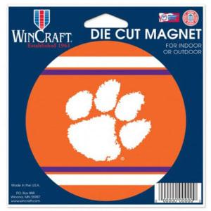 "Clemson Tigers WinCraft 5"" Die-Cut Car Magnet"
