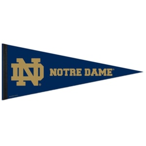 "Notre Dame Fighting Irish WinCraft 12"" x 30"" Premium Pennant-"