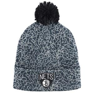 Brooklyn Nets Mitchell & Ness Crack Pattern Cuffed Knit Hat - Gray