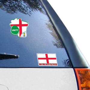 """England WinCraft 2014 World Soccer Unity 4"""" x 8"""" Cling Decals"""