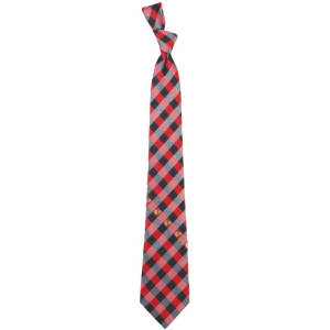 Chicago Blackhawks Woven Poly Check Tie