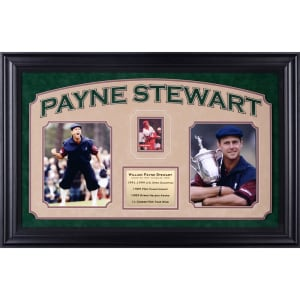 "Payne Stewart Fanatics Authentic Deluxe Vertical Framed Autographed Collectible with 2.5"" x 3.5"" Cut - PSA/DNA"