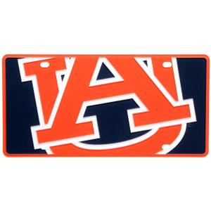 Auburn Tigers Mega License Plate Inlaid