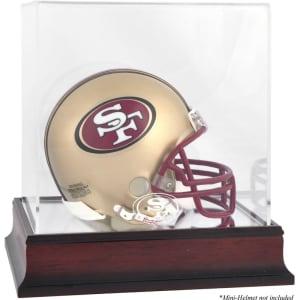 San Francisco 49ers Fanatics Authentic Mahogany Logo Mini Helmet Display Case