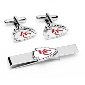 Kansas City Chiefs Tie Bar & Cufflinks Set
