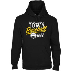 Iowa Hawkeyes Ballpark Pullover Hoodie - Black