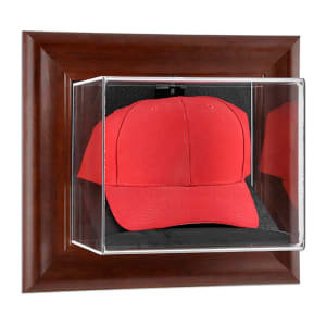 Fanatics Authentic Brown Framed Wall Mounted Cap Case