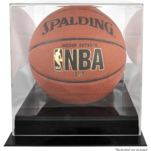 Black Base Basketball Display Case and Mirror Back