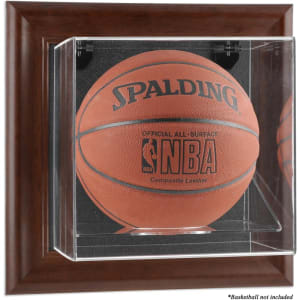 Fanatics Authentic Brown Framed Wall Mounted Basketball Display Case
