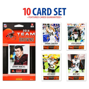 Cleveland Browns 2014 Score Team Set of 10 Cards